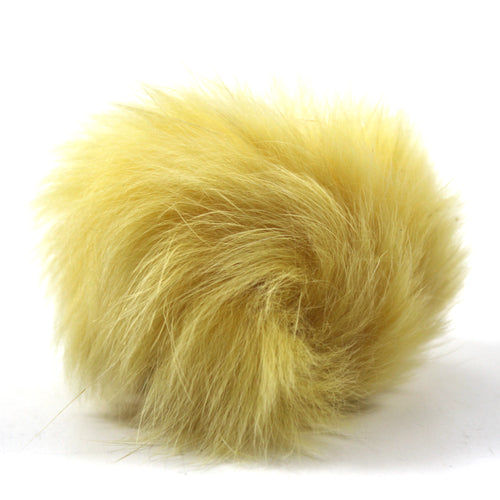 Rabbit Fur Shoe Accessory- Yellow