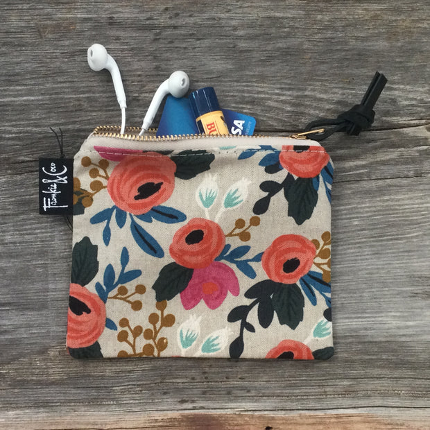 Spring Garden Blossoms - Small Zip Pouch