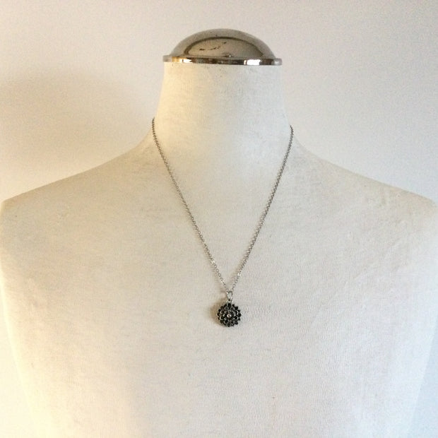 Costner/Sterling Plated Mum Silver Necklace