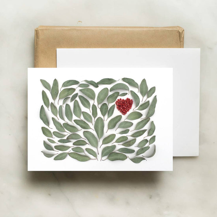 Eucalyptus Heart Card