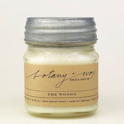The Woods/8 oz. Mason Jar Candle by botany + wax