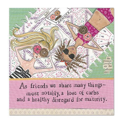 Friends Share Many Things - Curly Girl Design Magnet