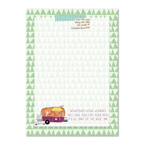 Sometimes your Journey will take you off your Path - Curly Girl Design Notepad