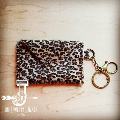 Hair On Leather Mini Wallet/Leopard