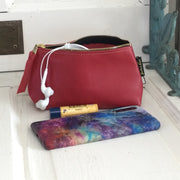 Bardot/Red-Leather Zip Bag by Zina Kao