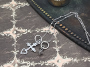 Walter/Sterling Silver Cross Heart Silver Necklace