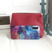 Martin/Red-Leather Zip Bag by Zina Kao