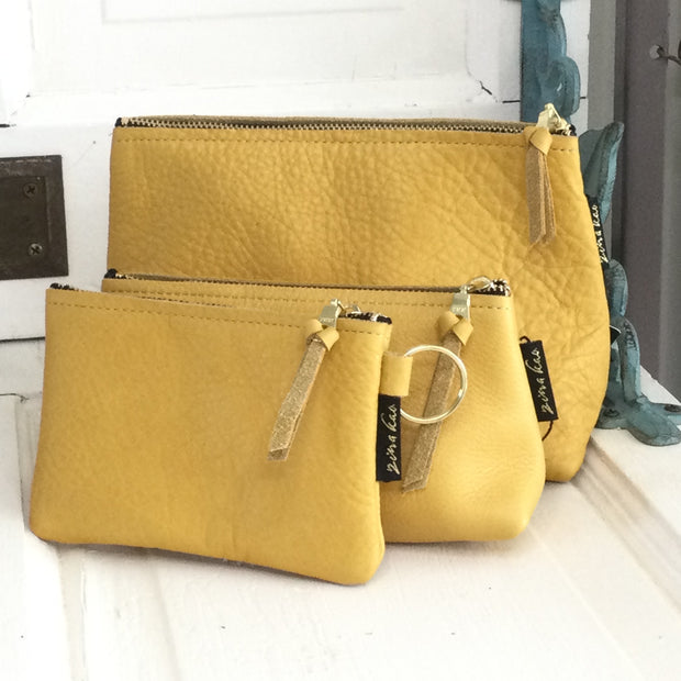 Martin/Mustard-Leather Zip Bag by Zina Kao