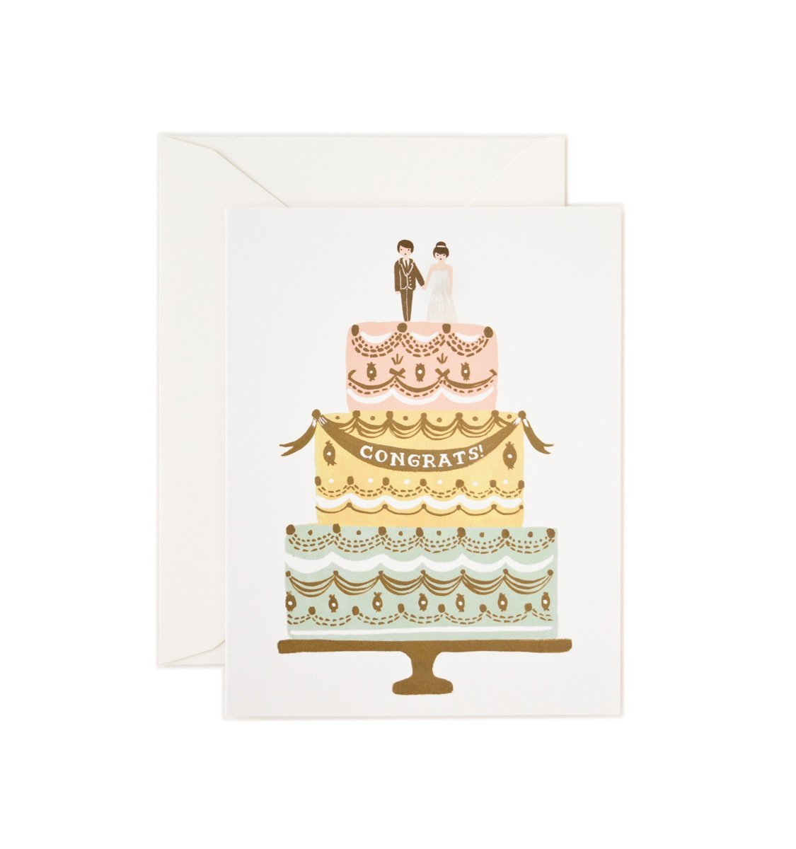 Kort, Congrats Wedding Cake - Posh Living