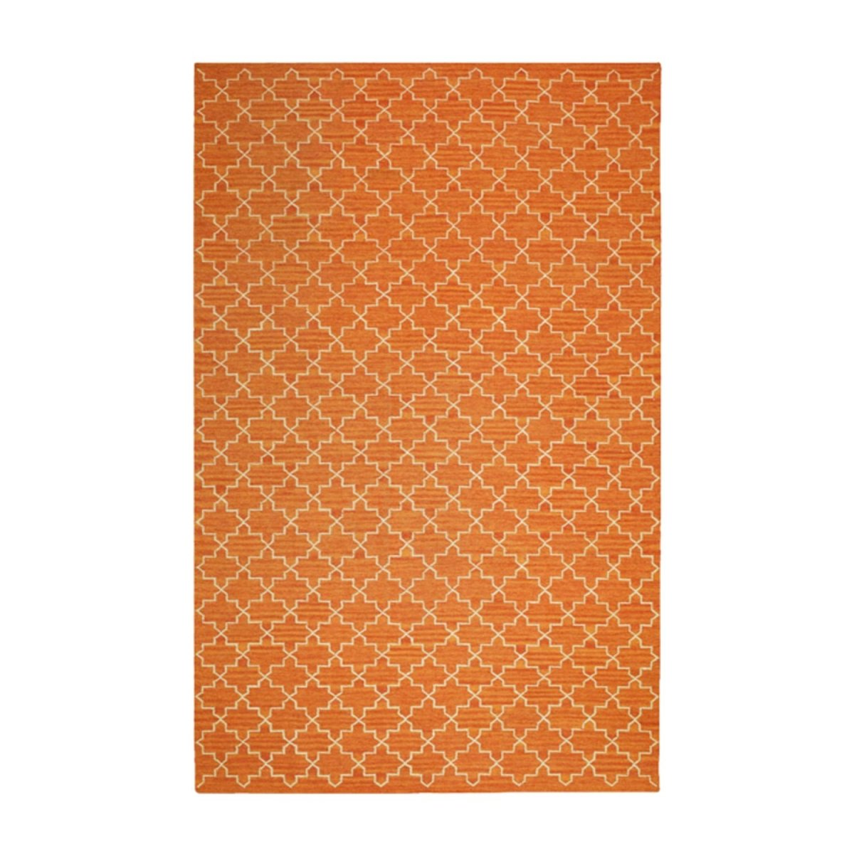 Matta New Geometric från Chhatwal & Jonsson, Orange Melange / Off White - Posh Living