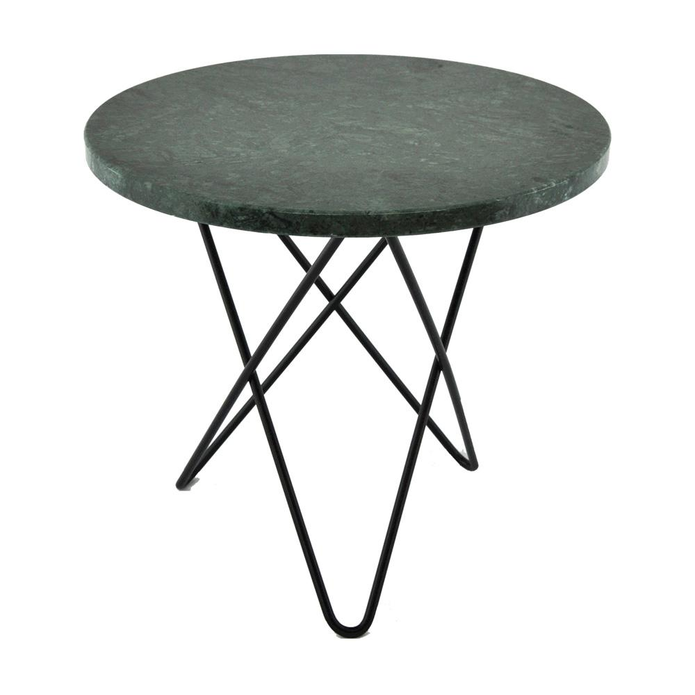Soffbord Mini O-table, grön marmor (välj underrede)
