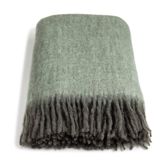 Pläd Mohair, Green Marble & Apple Melange - Posh Living