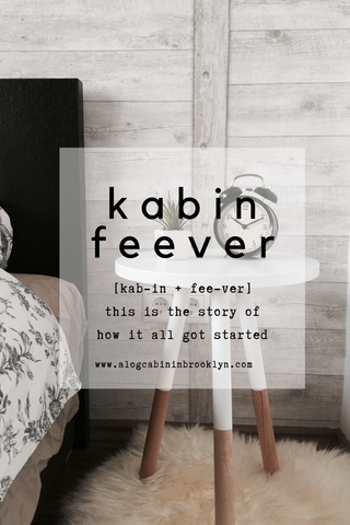This is the Story of how I got [kab-in + fee-ver]