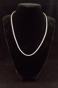 "16"" Twisted Sterling Silver Necklace"