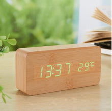 Wooden Clock Cube with voice Control