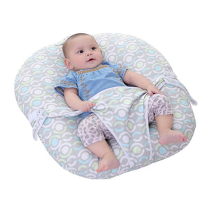 Newborn  portable pillow lounger with safety belt
