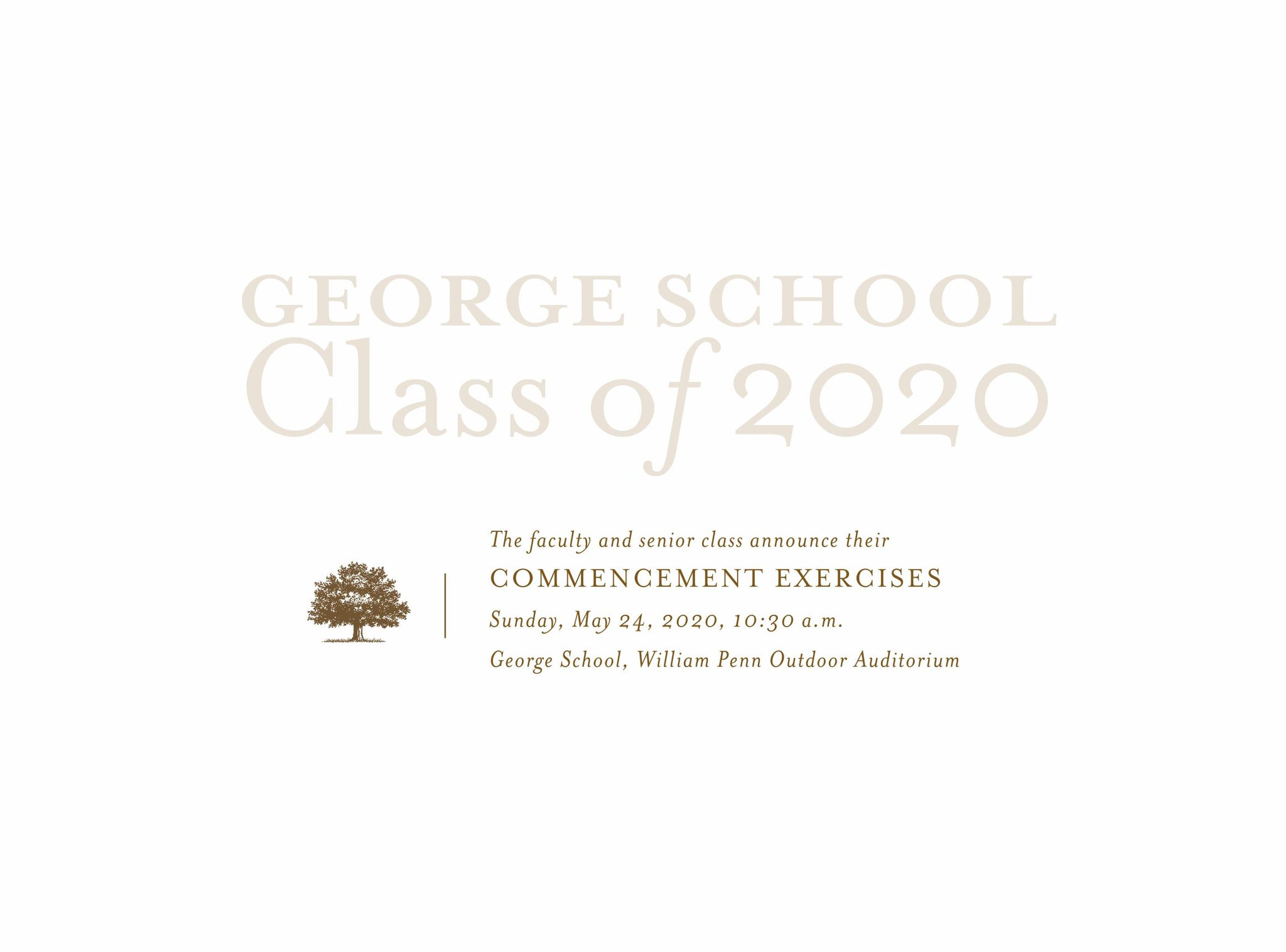Commencement 2020 Announcements