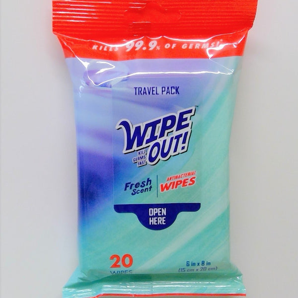 Wipe Out! Antibacterial Wipes Travel Pack