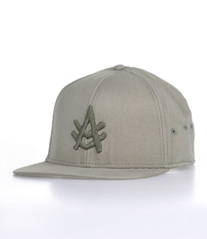 A Kurtz Harvey Flat Brim Baseball Cap - Military