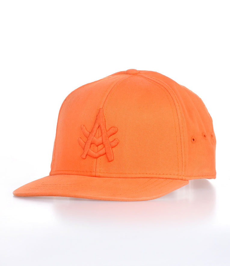 A Kurtz Harvey Flat Brim Baseball Cap - Orange