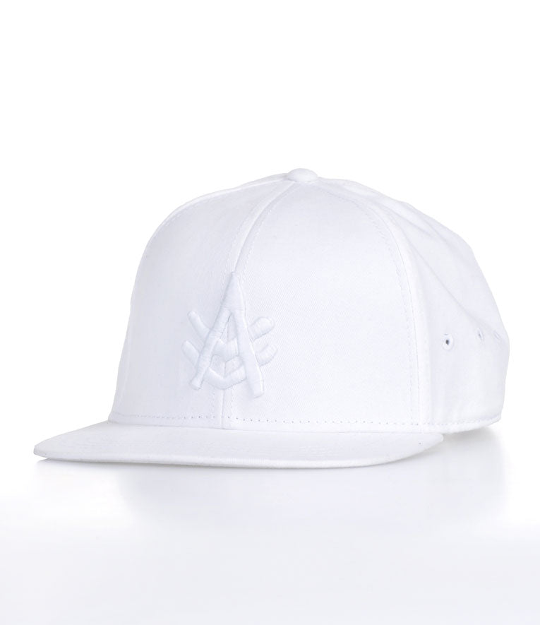 A Kurtz Harvey Flat Brim Baseball Cap - White