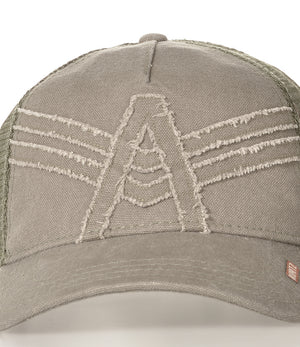 Arrow Trucker Cap - Akurtz Logo - Military
