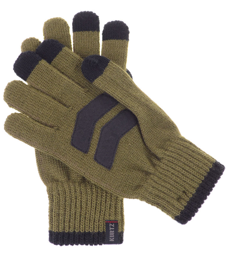A Kurtz Rebel Wool Knit Gloves - Military