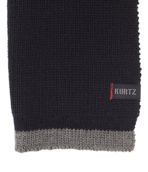A. Kurtz Rebel Wool Scarf - Black - Logo