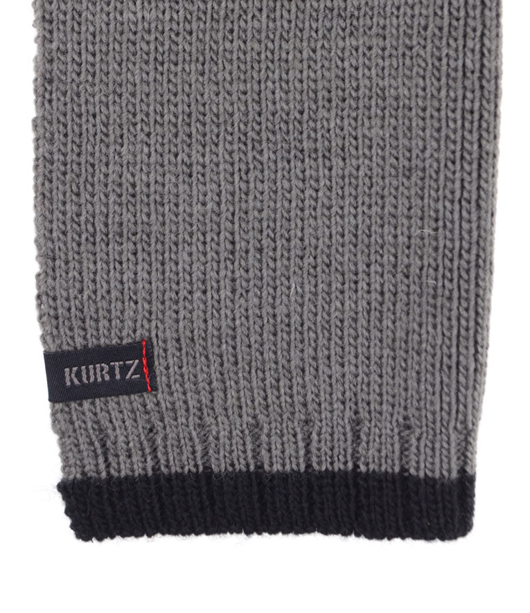 A. Kurtz Rebel Wool Scarf - Grey - Logo
