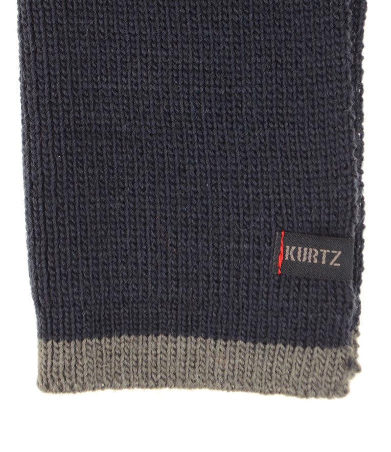 A. Kurtz Rebel Wool Scarf - Navy - Logo