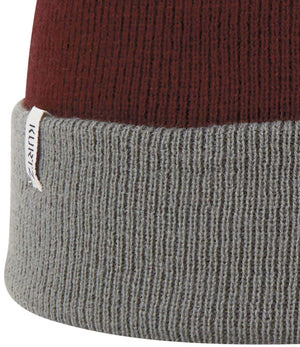 A. Kurtz Roll Up Beanie Watchcap - Charcoal - Detail