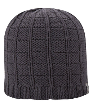 Cotton Squares Beanie - Charcoal