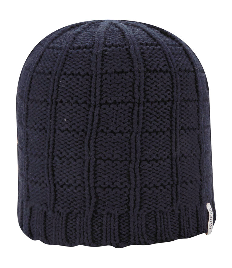 Cotton Squares Beanie - Black