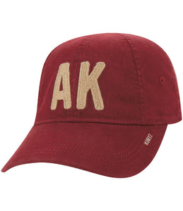A Kurtz Eight Panel Flex Cap - Red