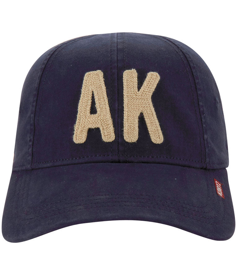 A Kurtz Eight Panel Flex Cap - Navy