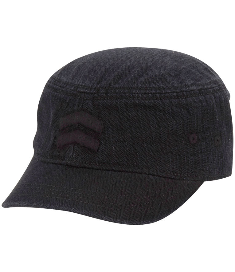 Akurtz Tonal Military Cap - Black