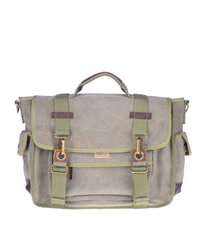 Canvas Messenger Bag - Military