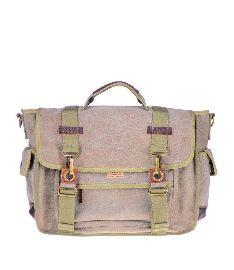 Canvas Messenger Bag - Tan