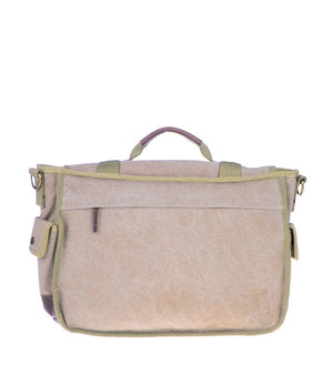 Canvas Cotton Messenger Bag - Back