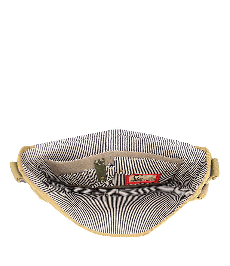 Canvas Messenger Bag - Inside Pockets