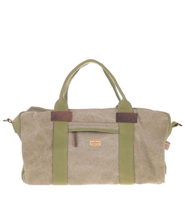 A Kurtz Chestnut Canvas Weekender Bag