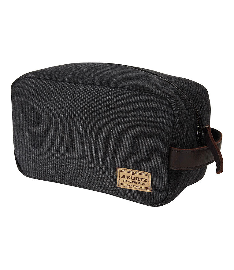 Dopp Kit Canvas Toiletry Bag - Black