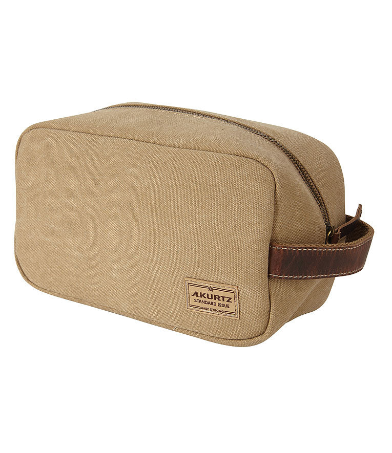 Dopp Kit Canvas Toiletry Bag - Tan