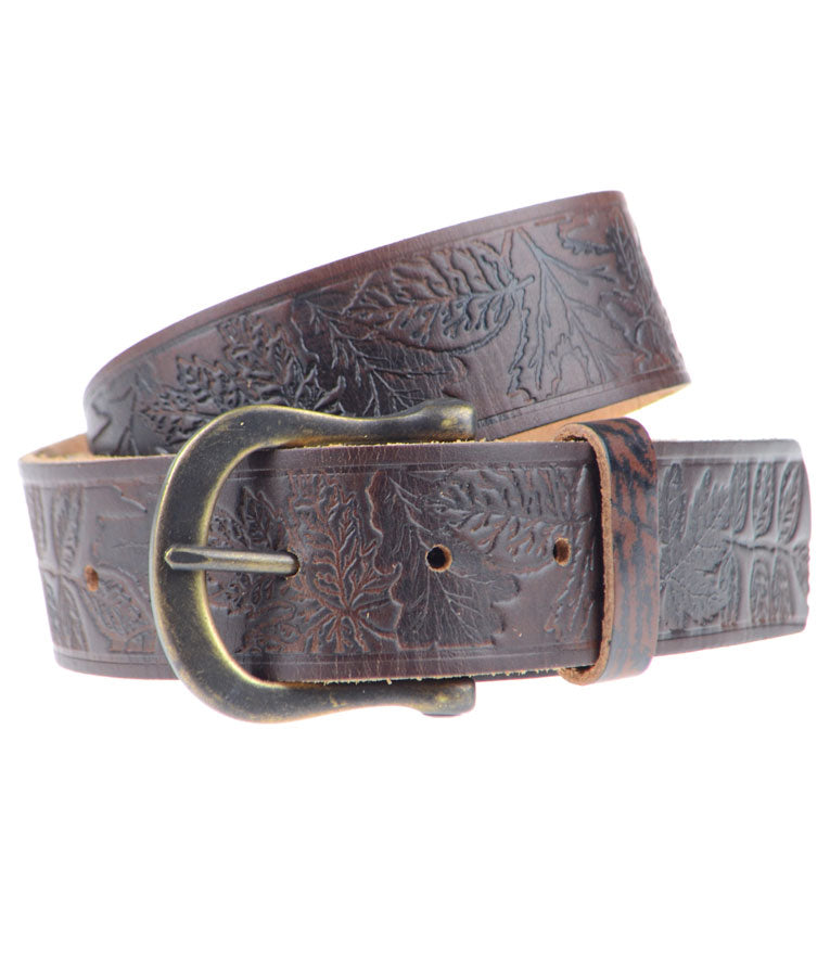 Shaw Pattern Leather Belt