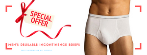 Men's Reusable Incontinence Briefs- Ideal Solution for Bladder Issues!