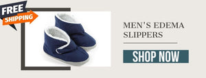 Men's Edema Slippers- Ideal For Sensitive Skin