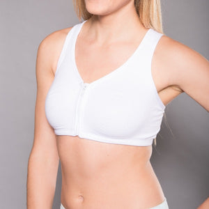 Front Zip Sport Bra (Single Pack) - ComfortFinds