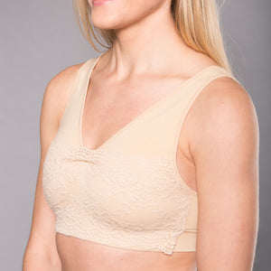 Seamless Lovely Lace Camisole Pullover Bra (3 Pack Colors)