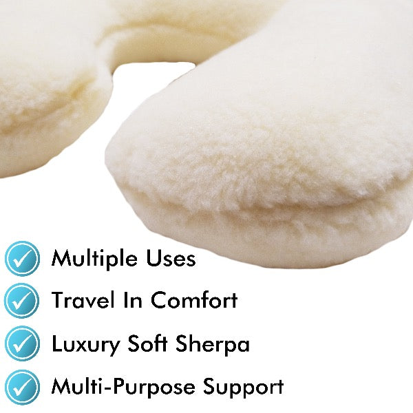 Sherpa Neck Travel Pillow - ComfortFinds