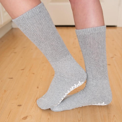 Non Skid Diabetic Crew Socks - ComfortFinds